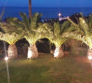 Abends von der Restaurantterrasse gesehen  Hotel King Minos Palace