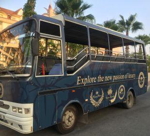 Shuttlebus zum Strand Hotel Side Crown Palace