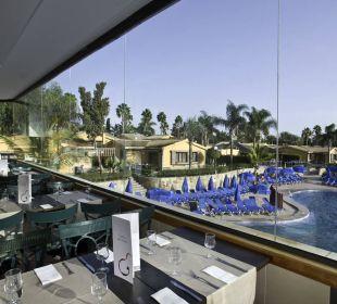 Poolblick vom Restaurant Dunas Maspalomas Resort