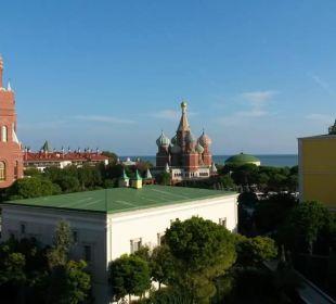 Ausblick vom Zimmerbalkon Hotel WOW Kremlin Palace