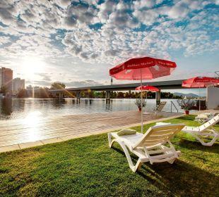Hoteleigener Badestrand an der Alten Donau Strandhotel Alte Donau