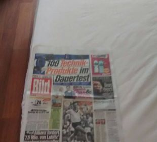 Bett ist so breit 2,5x die Bildzeitung