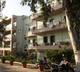 Ansicht von Westen Hotel Corissia Beach