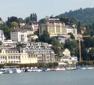 Wirkliche Lage Art Deco Hotel Montana Luzern