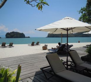 Strand beim Sunset Pool Hotel Tanjung Rhu Resort