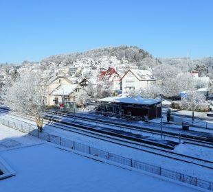 Ausblick vom Balkon Seehotel Adler