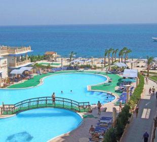 Blick vom Zimmer Sphinx Aqua Park Beach Resort