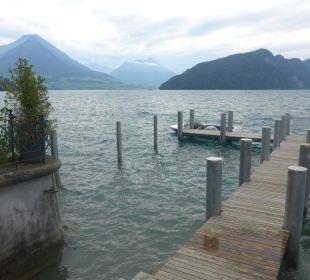 Zugang zum See/Badesteg/Bootssteg Hotel Vitznauerhof