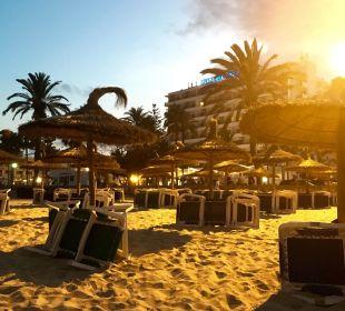 Sicht vom Strand SENTIDO Playa del Moro
