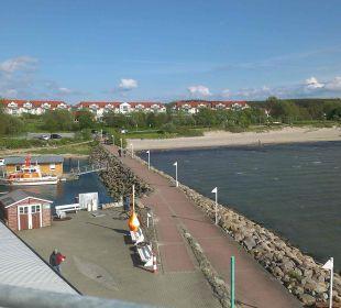 Vom Aussichtsturm Hafen Glowe altGlowe Hotel Garni