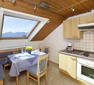 Panoramablick Küche Ferienwohnungen Berghof Kinker
