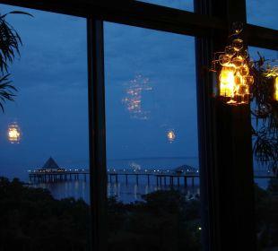 Wintergarten bei Nacht mit herrlicher Aussicht auf Maritim Hotel Kaiserhof Heringsdorf