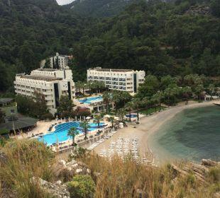 Blick auf das Hotel bei einem Spaziergang Hotel Turunc