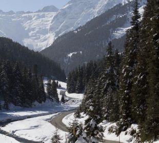 Blick auf die Berge - Skitourengebiet Praxmar Alpengasthof Pension Praxmar