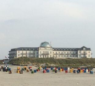 Imposanter Blickfang Strandhotel Kurhaus Juist