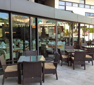 Frühstücksraum von außen Hotel Pullman Barcelona Skipper