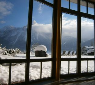 Ausblick vom Ruheraum Hotel Post Lermoos