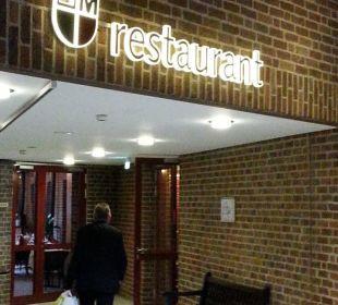 Restauranteingang Hotel Maternushaus