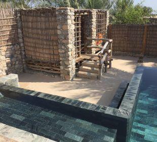 Villenpool mit Gartenhaus Six Senses Spa At Zighy Bay