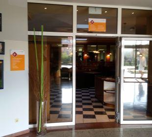 Zugang zum Restaurant Thermenhotel Kurz