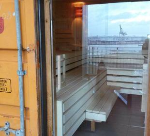 Blick in die Sauna 25hours Hotel HafenCity