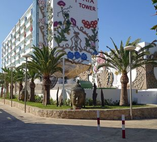 Hotel Frontansicht Ushuaia Ibiza Beach Hotel - The Tower / The Club
