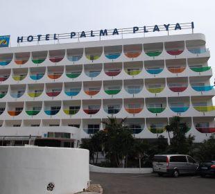Außenansicht von der  Straße Hotel Palma Playa - Cactus