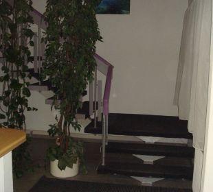 Treppenaufgang zum 1. Stock Stern Hotel Leipzig