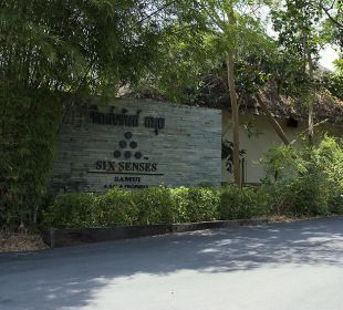 Eingang Six Senses Samui Resort & Spa