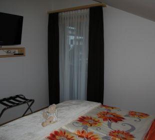 Schlafzimmer im Apartment Gästehaus Waldrand