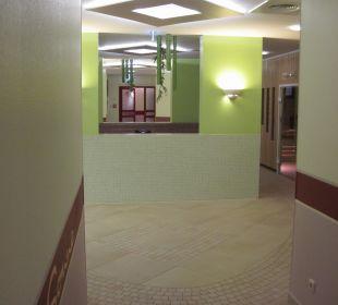 Eingangsbereich Saunaanlage Casa Familia