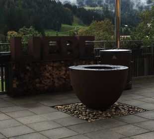 Terrasse beim Restaurant  Hubertus Alpin Lodge & Spa