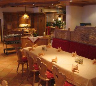 Restaurant- und Frühstücksbereich Hotel Stacklerhof