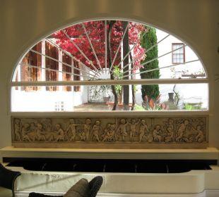 Fenster der Lounge Hotel The Cellars-Hohenort