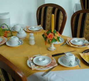 Frühstückstisch Wellnesshotel Jagdhaus