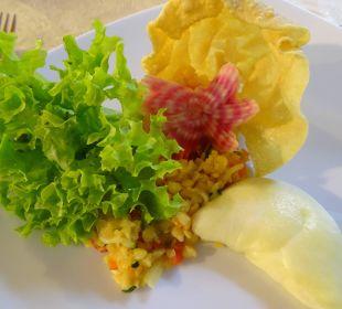Rote-Linsen-Salat an gefülltem Mozarella