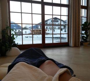Ausblick vom Ruheraum Wellnesshotel Zechmeisterlehen