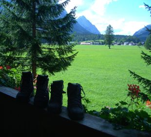 Blick vom Balkon Alpenhotel Karwendel