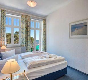 3-Raum-Ferienwohnung Meerseite - Schlafzimmer Haus Seeblick Hotel Garni & Ferienwohnungen