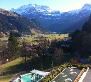 Ausblick vom Hotelzimmer 3. Stock Lenkerhof gourmet spa resort