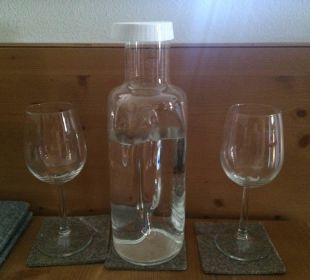 Jeden Tag eine Karaffe Wasser auf dem Zimmer Sonnhof Alpendorf