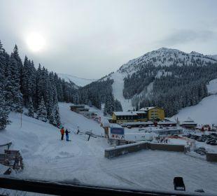 Blick Richtung Skilift Hotel Lamark