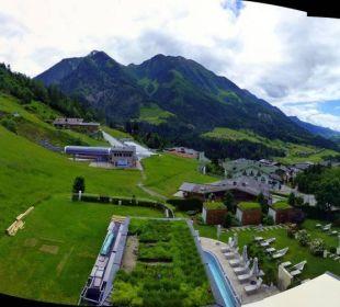 Blick vom Balkon Sonnhof Alpendorf