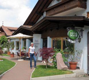 Eingang Hotel Alpenhof Passeiertal