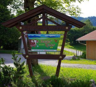 Schild Ferienwohnungen Berghof Kinker