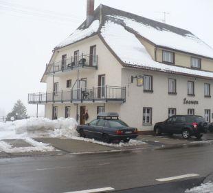 Es gibt auch mal schlechtes Wetter in Bernau Gasthaus Löwen
