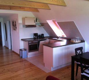 Küche des Studios Seeblick Ferienwohnungen Hass