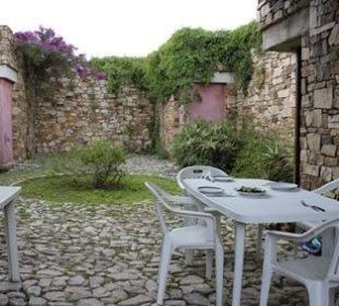 Innenhof Sardafit Ferienhaus Budoni