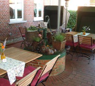 Außenbereich des Restaurantes Landgasthof Hengstforder Mühle