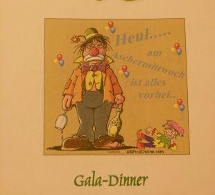 Deckblatt zur Einladung zum Dinner Kurhotel Zink